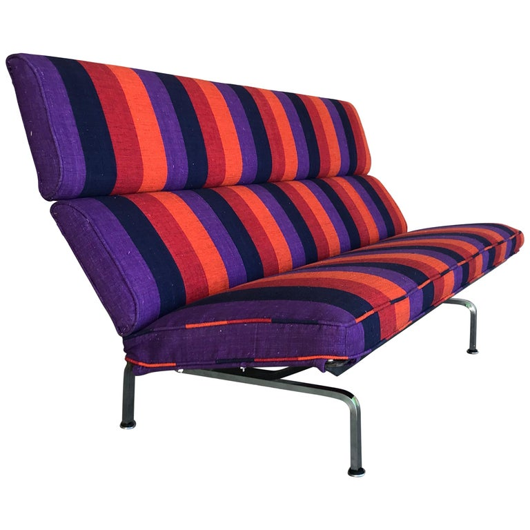 Vintage Charles And Ray Eames Compact Sofa For Herman