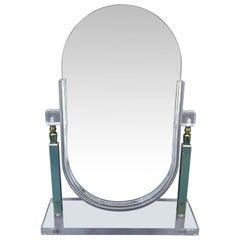 Vintage Charles Hollis Jones Lucite Tabletop Vanity Mirror