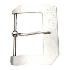 Vintage Charles Thomae Sterling Silver Belt Buckle