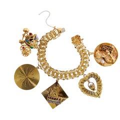 Vintage Charm Gold Bracelet