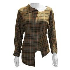 Vintage Check Jacket with interesting Hem and Neckline