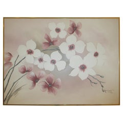 Vintage Cherry Blossom Painting