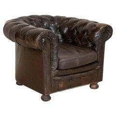 Vintage Chesterfield Barrel Club Chair, England