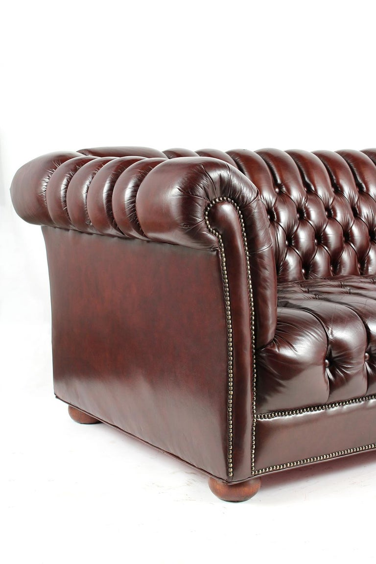Dyed Vintage Chesterfield Sofa For Sale