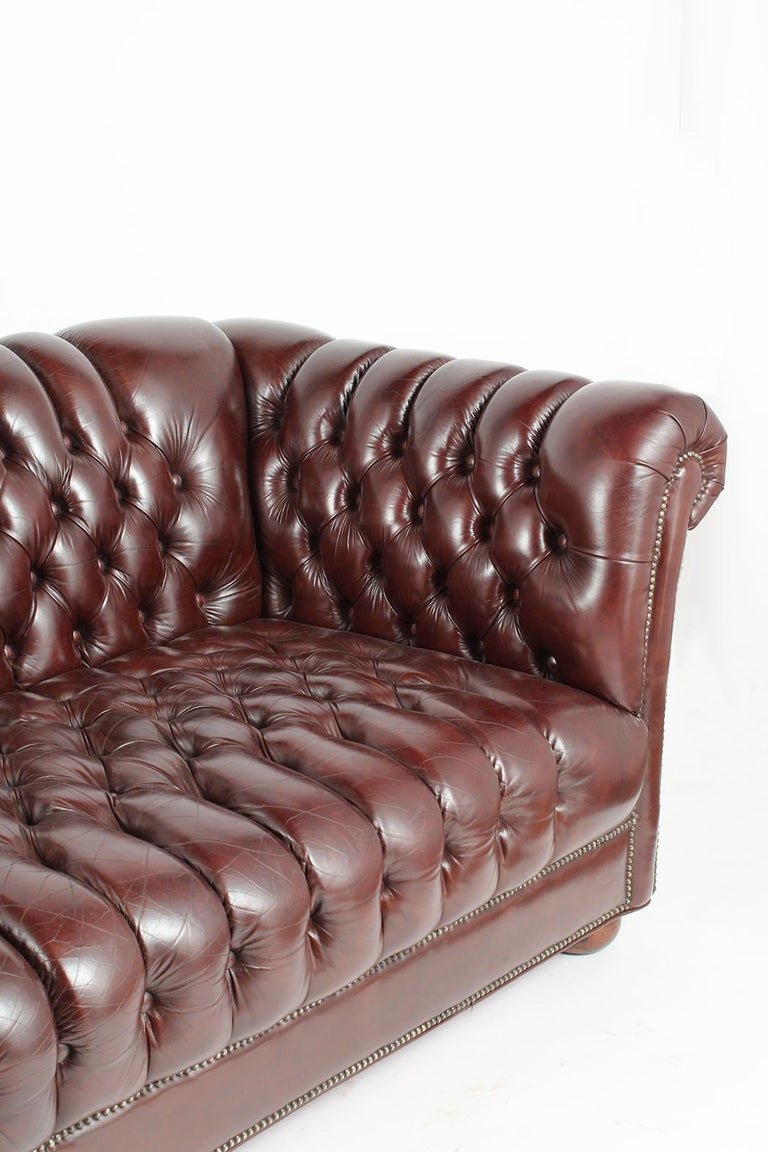 Late 20th Century Vintage Chesterfield Sofa For Sale