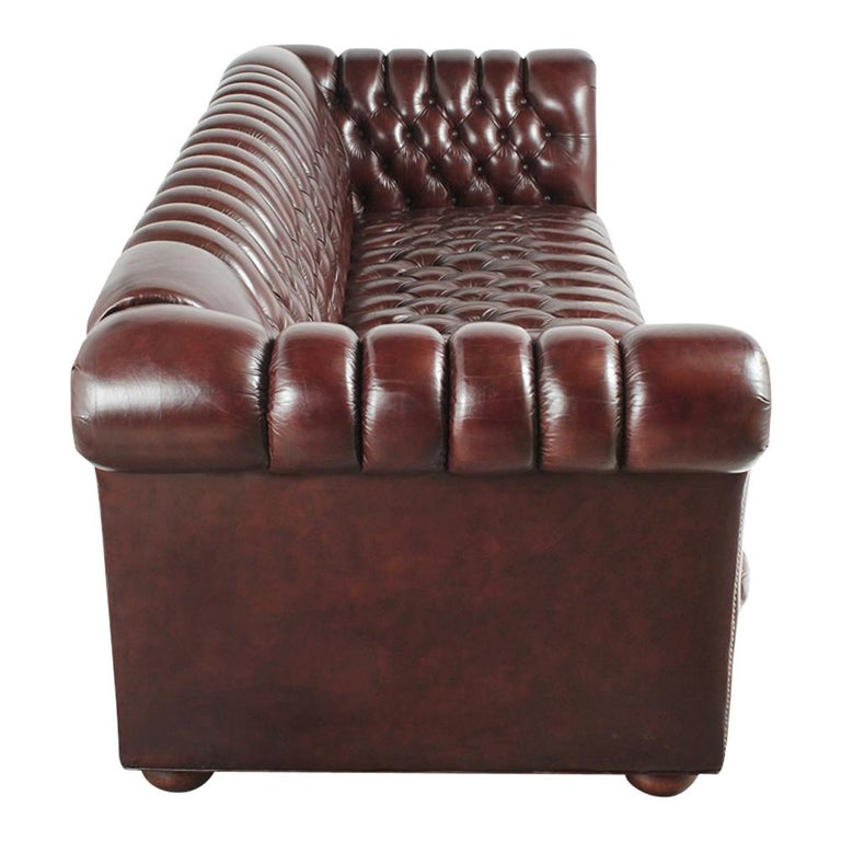 Brass Vintage Chesterfield Sofa For Sale