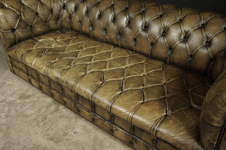 Vintage Chesterfield Sofa from England, circa 1950 In Good Condition In Nashville, TN