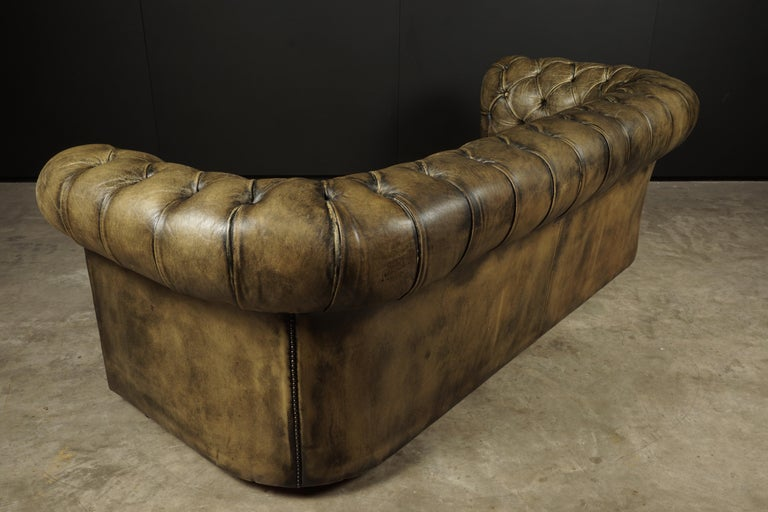Leather Vintage Chesterfield Sofa from England, circa 1950