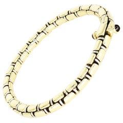 Vintage Chiampesan Men's Italian Fancy Link Two-Tone 18 Karat Gold Bracelet