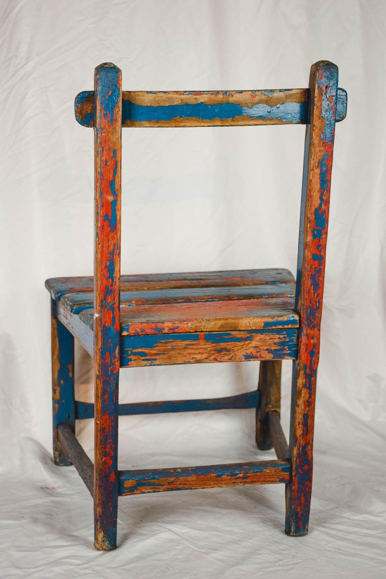 French Vintage Child's Chair For Sale