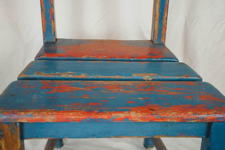Wood Vintage Child's Chair For Sale