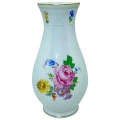 Vintage China Porcelain Vase Hutschenreuther Dresden Floral Decor