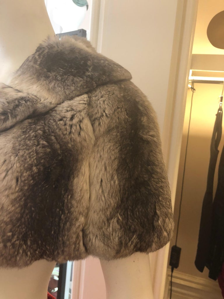 Women's Vintage Chinchilla Stole/Cape and Hat  For Sale