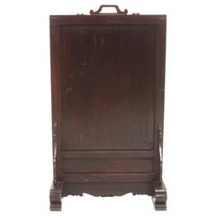 Vintage Chinese Ancestral Decorative Folding Table Screen