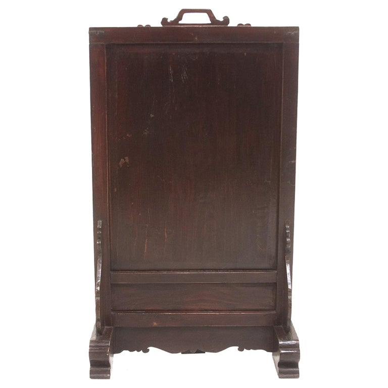 Vintage Chinese Ancestral Decorative Folding Table Screen For Sale
