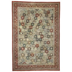 Vintage Chinese Area Rug with Tabriz Garden Design and Carolean Style