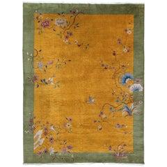 Vintage Chinese Art Deco Rug