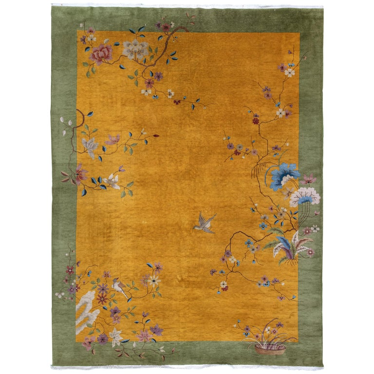 Chinese Art Deco rug, 1930s, offered by Mehraban Rugs