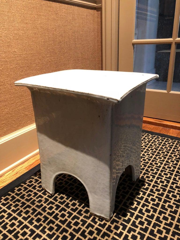 Chinese Export Vintage Tariki Studio Ceramic Stool End Table For Sale