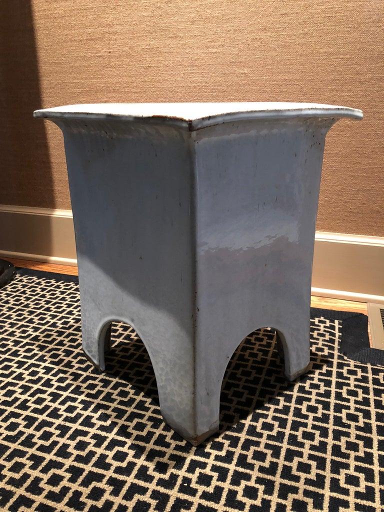 Chinese Vintage Tariki Studio Ceramic Stool End Table For Sale