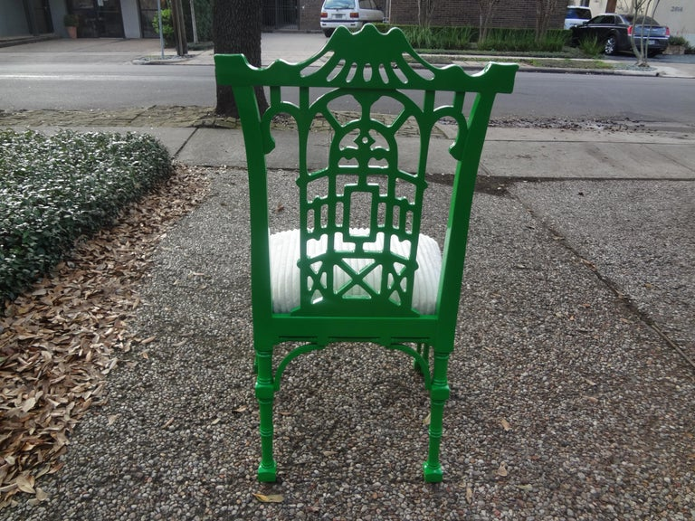 Vintage Chinese Chippendale Style Lacquered Chair For Sale 2