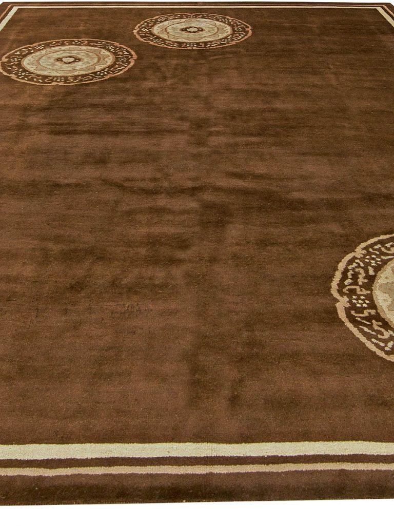 Art Deco Vintage Chinese Deco Rug For Sale