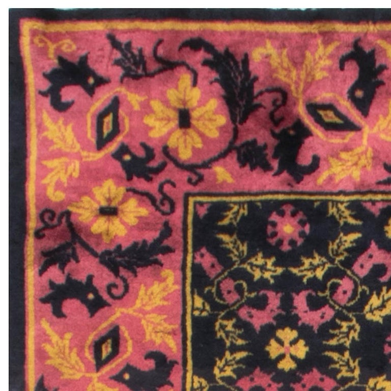 Wool Vintage Chinese Deco Rug For Sale
