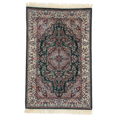 Vintage Chinese Floral Rug with Persian Design and English Country Style