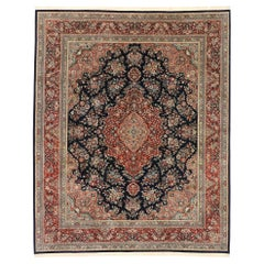 Vintage Chinese Floral Rug with Traditional Persian Style