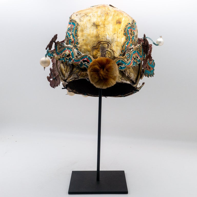 Qing Vintage Chinese Opera Theatre Headdress, Early 20th Century For Sale