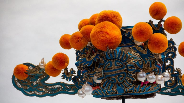 Vintage Chinese Opera Theatre Headdress, Early 20th Century In Good Condition For Sale In New York, NY