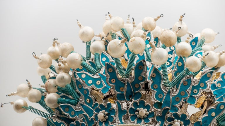 Fabric Vintage Chinese Opera Theatre Headdress, Early 20th Century For Sale