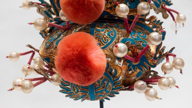 Vintage Chinese Opera Theatre Headdress, Early 20th Century For Sale 1