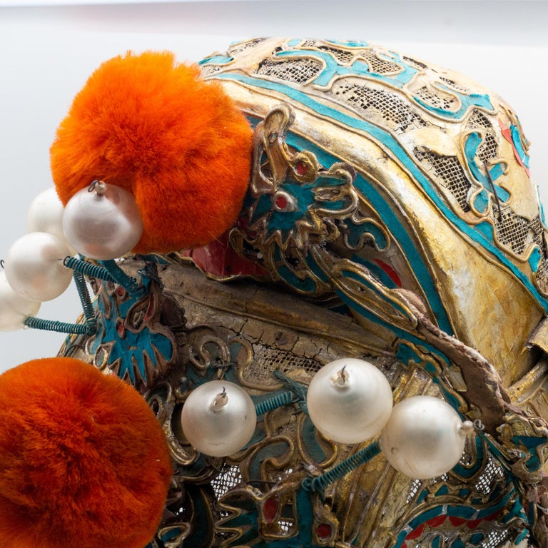 Vintage Chinese Opera Theatre Headdress, Early 20th Century For Sale 2