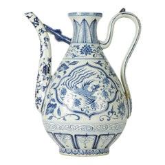 Vintage Chinese Porcelain Ewer, 20th Century