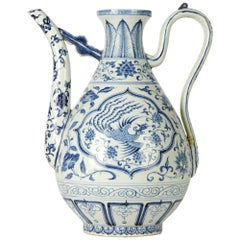 Vintage Chinese Porcelain Ewer, 20th Century