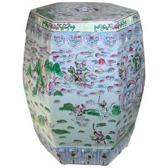 Vintage Chinese Porcelain Garden Stool