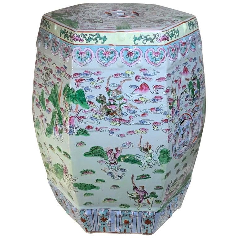 Vintage Chinese Porcelain Garden Stool, Porcelain Garden Stools Chinese