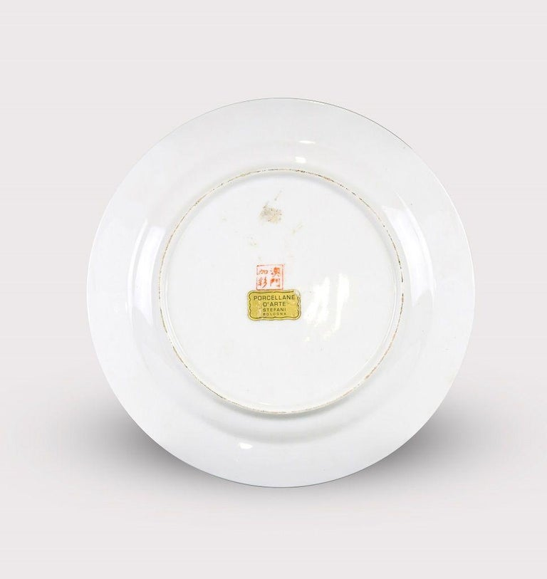 Ceramic Vintage Chinese Porcelain Plate, Made in China, Early 20th Century For Sale