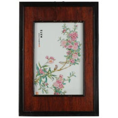 Vintage Chinese PRoC Bird and Flower Porcelain plaques Made in 1982