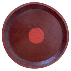 Vintage Chinese Red Wood Tray