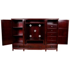 Vintage Chinese Rosewood Display Cabinet Case TV Bookcase