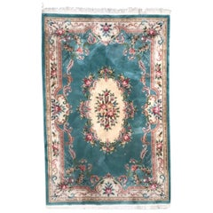 Vintage Chinese Savonnerie Style Rug