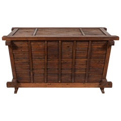 Vintage Chinese Trunk Made of Bamboo and Elm