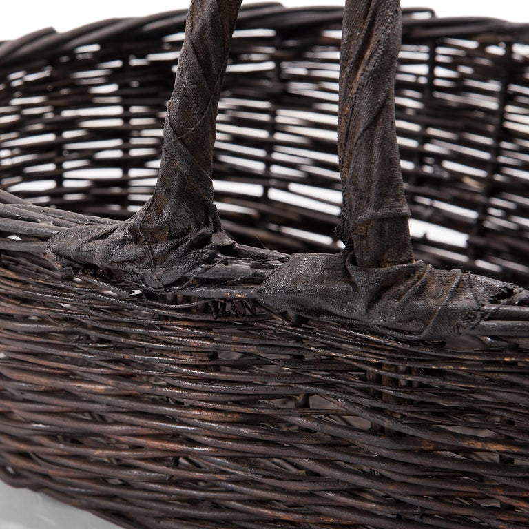20th Century Vintage Chinese Woven Vegetable Basket For Sale