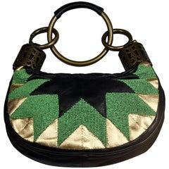 Vintage CHLOE Beaded Leather Bracelet Bag