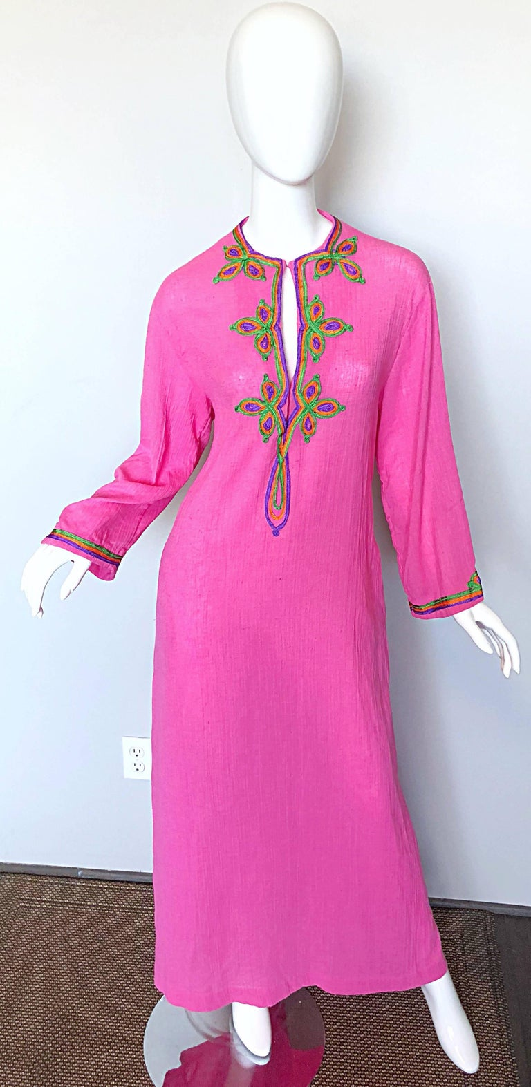 Vintage Christian Dior 1960s Bubblegum Pink Moroccan 60s