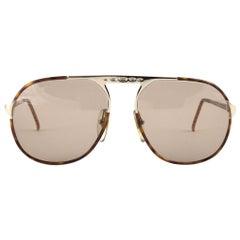 Vintage Christian Dior 2504 40 Oversized Aviator Sunglasses Optyl 1980's Austria