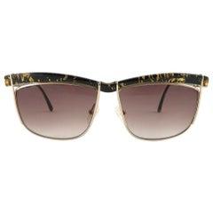 Vintage Christian Dior 2552 90 Oversized Black Sunglasses Optyl 1980's Austria