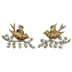 Vintage Christian Dior Bal des Oiseaux Earrings by London's Mitchel Maer 1950s